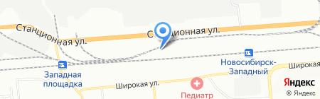 Спец на карте Новосибирска
