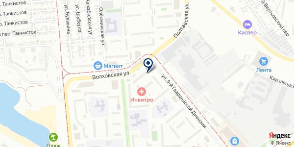 Альфа-М на карте Новосибирске