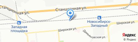 Сибирь54 на карте Новосибирска
