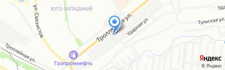 Неллида на карте Новосибирска