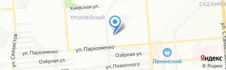 Пермский на карте Новосибирска
