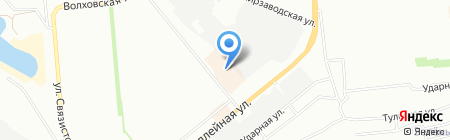 Турне на карте Новосибирска