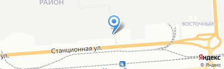 Техмаш на карте Новосибирска