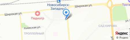 Бакинский двор на карте Новосибирска