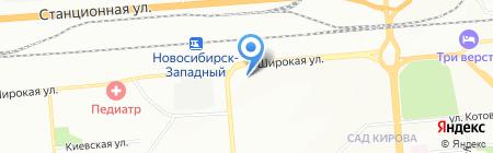 Ярмарка одежды на карте Новосибирска