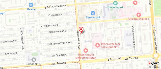 Карта расположения пункта доставки Новосибирск Троллейная в городе Новосибирск