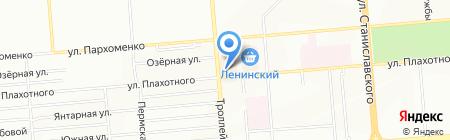 Светодиод на карте Новосибирска