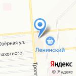 Янтарь на карте Новосибирска