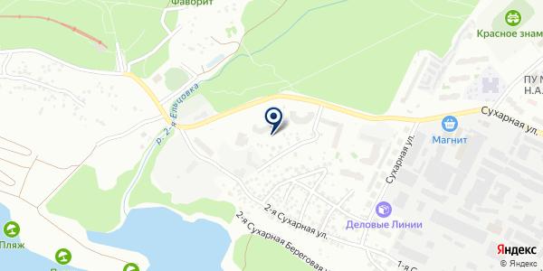 СУХАРНАЯ 101 на карте Новосибирске