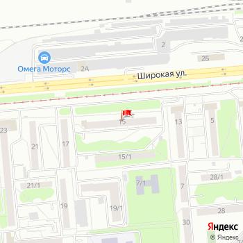 г. Новосибирск, ул. Широкая,15 на карта