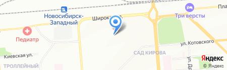 Детский сад №176 на карте Новосибирска