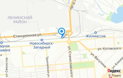 Местоположение на карте пункта техосмотра по адресу г Новосибирск, ул Широкая, д 2