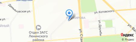 Драйв на карте Новосибирска