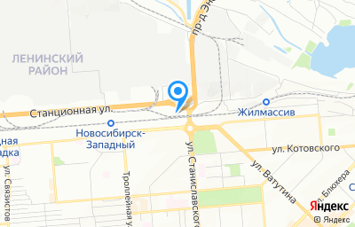 Местоположение на карте пункта техосмотра по адресу г Новосибирск, ул Станционная, д 13/1