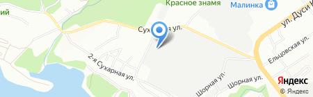 Абелия на карте Новосибирска