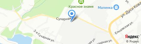 Вербина на карте Новосибирска