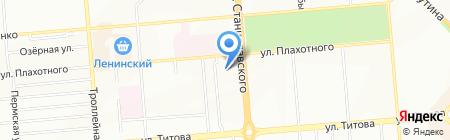 Аристократ на карте Новосибирска