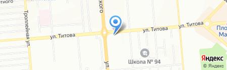 Лео на карте Новосибирска
