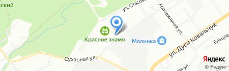 Отделение (школа) лыжных гонок на карте Новосибирска