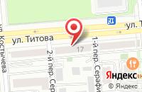 Схема проезда до компании Сеньораж в Новосибирске