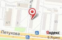 Схема проезда до компании Рона в Новосибирске