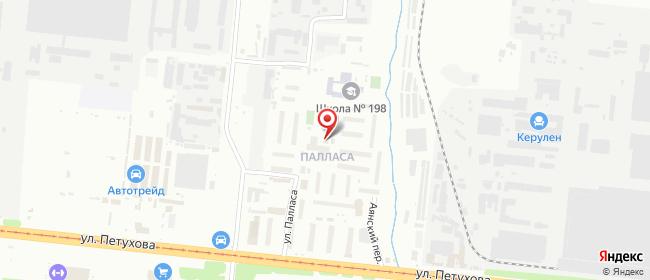 Карта расположения пункта доставки Новосибирск Палласа в городе Новосибирск