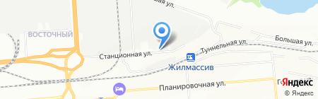 Армасети на карте Новосибирска