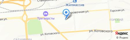 Миледи на карте Новосибирска