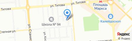 Аква Стиль на карте Новосибирска