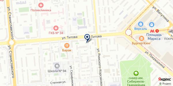 Фотолэнд на карте Новосибирске