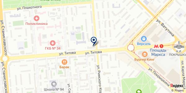 Сервисная служба Сибири на карте Новосибирске