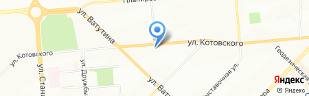 Капелька на карте Новосибирска
