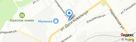 Звезда на карте Новосибирска
