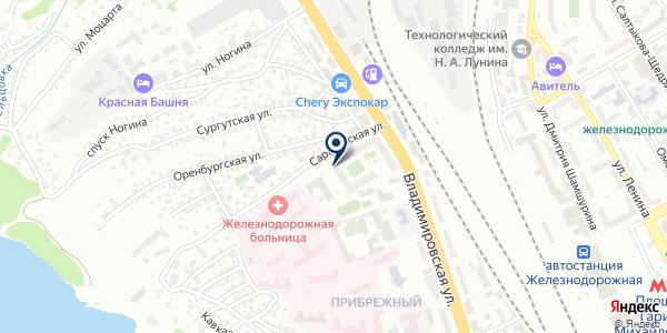Западно-Сибирская дирекция по энергообеспечению на карте Новосибирске