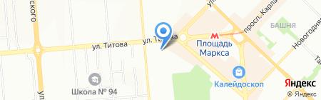 Раккорд на карте Новосибирска