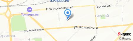 Милена на карте Новосибирска