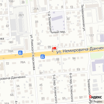 г. Новосибирск, ул. Немировича-Данченко, на карта