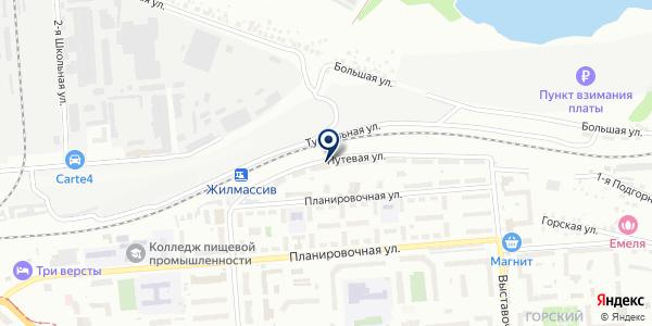 Людекс-К на карте Новосибирске