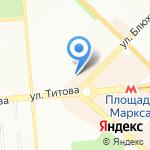 Дивный сад на карте Новосибирска
