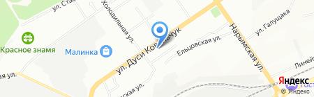 Дружба на карте Новосибирска