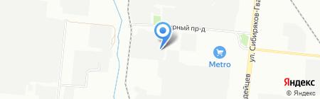 Север на карте Новосибирска
