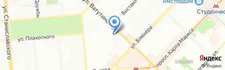 Акация на карте Новосибирска