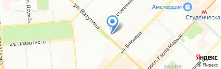 Первая Автошкола на карте Новосибирска
