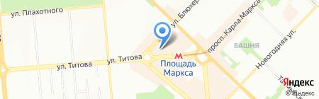 Банкомат АКБ Абсолют Банк на карте Новосибирска