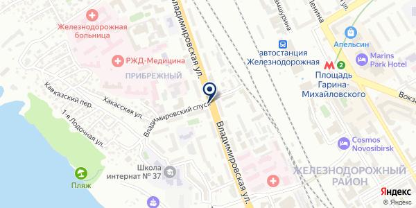 Киоск по изготовлению ключей на карте Новосибирске