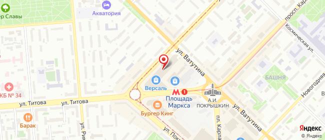 Карта расположения пункта доставки Новосибирск Карла Маркса в городе Новосибирск