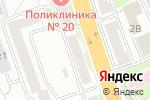 Схема проезда до компании Российский трикотаж в Новосибирске