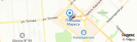 Киоск по продаже лотерейных билетов на карте Новосибирска