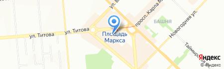 Марлен на карте Новосибирска