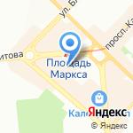 Филиграно на карте Новосибирска